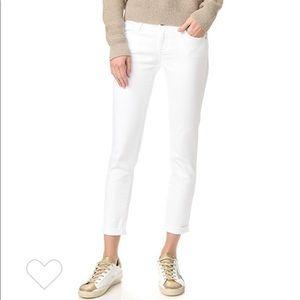 AG Stilt Cigarette Roll Up Jeans :: White